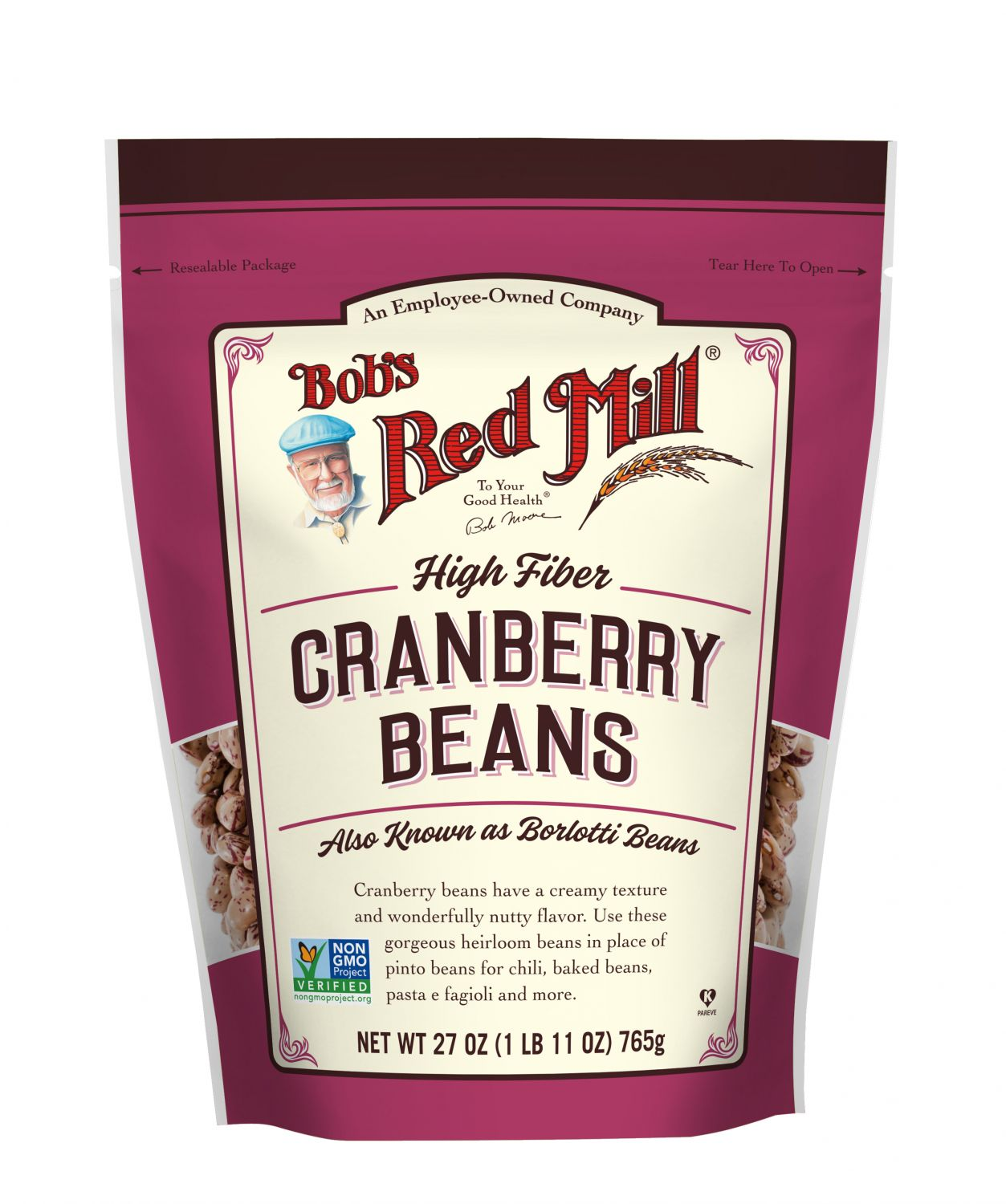 Cranberry Beans :: Bob's Red Mill
