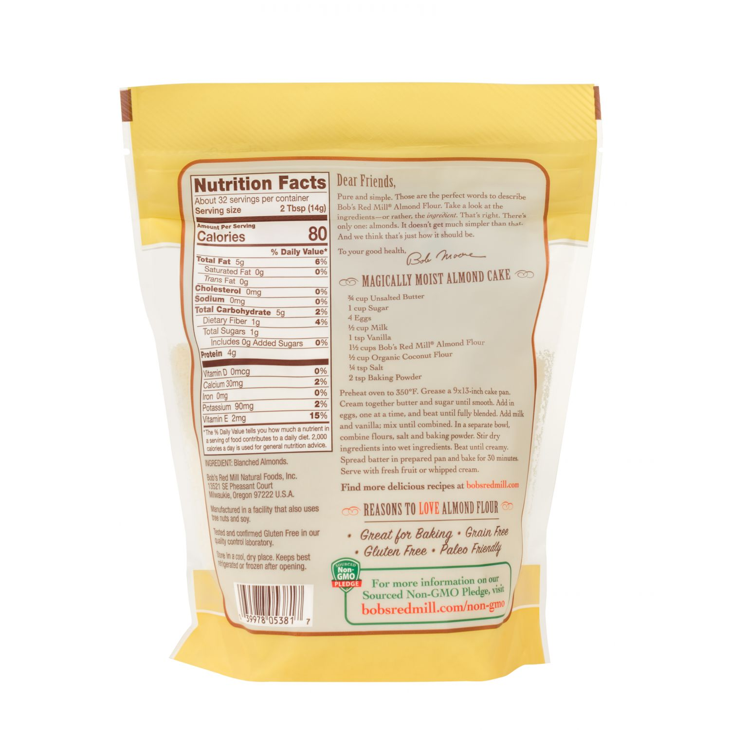 Almond Flour Nutrition Facts and information | All Natural ...  |Almond Flour Nutrition