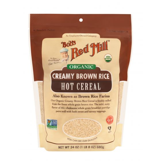 Organic Creamy Brown Rice Hot Cereal