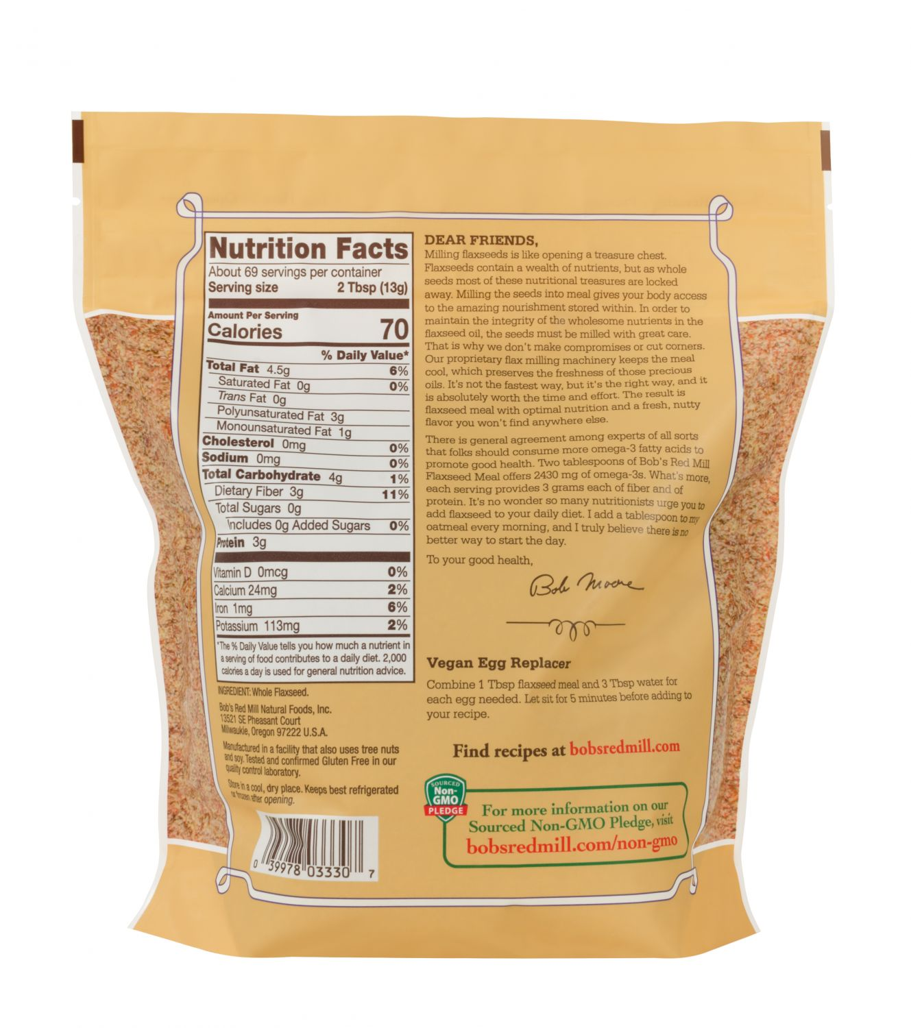 Buy Flaxseed Meal Online Bob S Red Mill Natural Foods