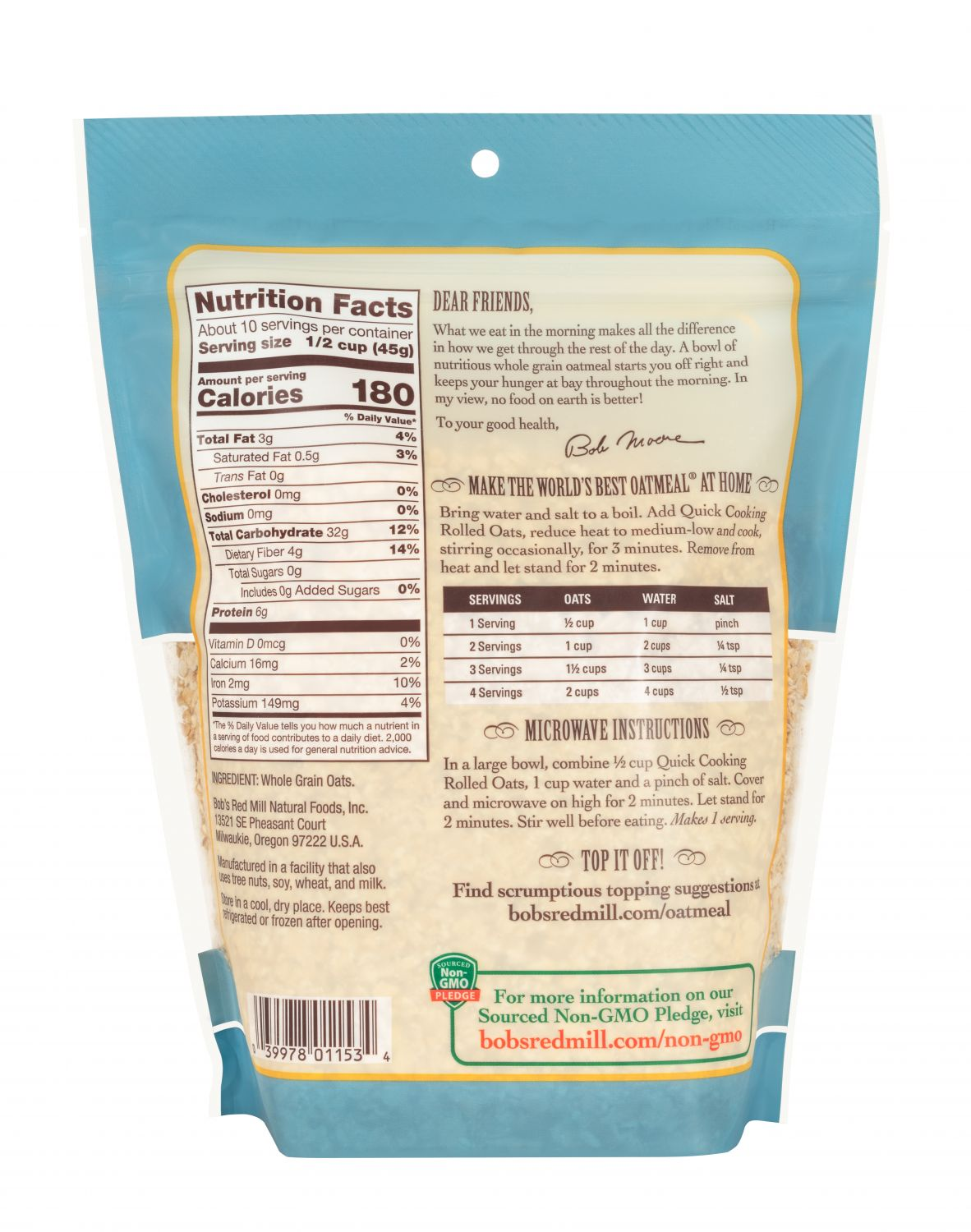 Bob S Red Mill Quick Cooking Steel Cut Oats 623g Organic Haven Ng