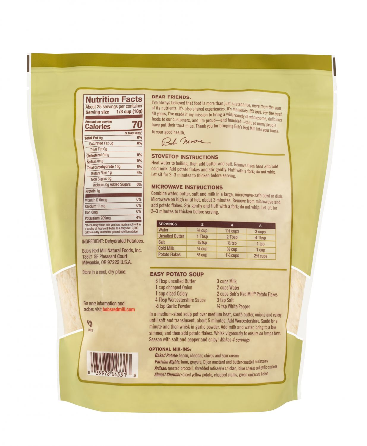 Potato Flakes | Bob's Red Mill Natural Foods