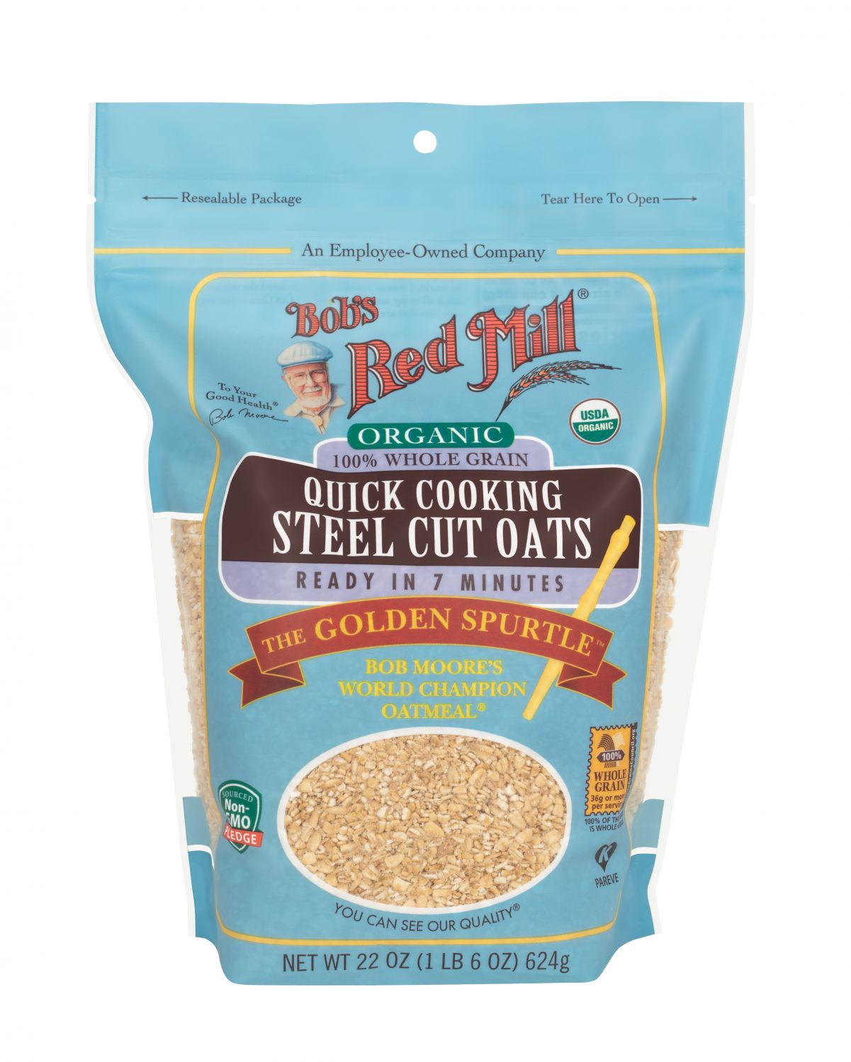Organic Quick Cooking Steel Cut Oats Bob S Red Mill Natural Foods