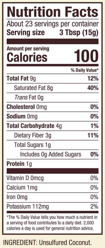 Unsweetened coconut calories