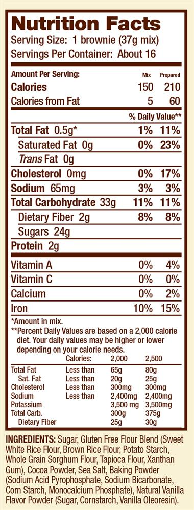 Gluten Free Brownie Mix :: Bob's Red Mill Natural Foods - photo#47