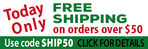 Today Only: Free Shipping on orders over $50.00 use code SHIP50. Click for details.