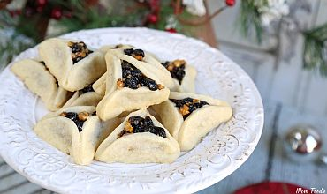 Cranberry Walnut Stuffed Shortbread Cookies (Hamantashen)