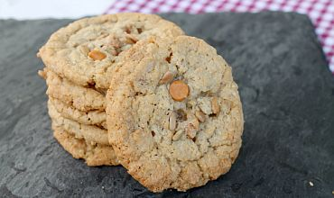 Sunflower Butterscotch Cookies