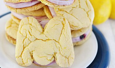 Lemon Blueberry Cream Cookies